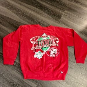 Vintage 90 Cincinnati Reds World Series Sweatshirt